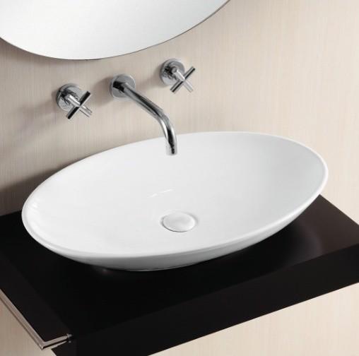 Beautiful Oval Shaped Vessel Sink Modern Bathroom