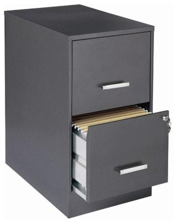 "Home Office 22"" Deep 2 Drawer Vertical Smart File Cabinet modern-home ..."