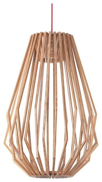 Woven Wood Diamond Hanging Pendant Light contemporary-pendant-lighting