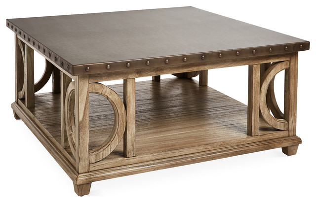 Wyatt 40 Square Coffee Table Gray Contemporary Coffee Tables By One Kings Lane