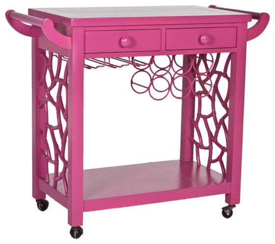 the hostess pink contemporary bar carts by society social. Black Bedroom Furniture Sets. Home Design Ideas