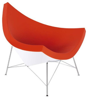 Orange coconut chair midcentury chaise longue for Chaise longue montreal