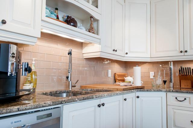 island white kitchen traditional kitchen montreal