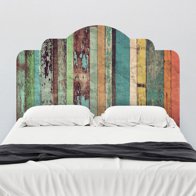 Distressed Panels Adhesive Headboard Wall Decal ...