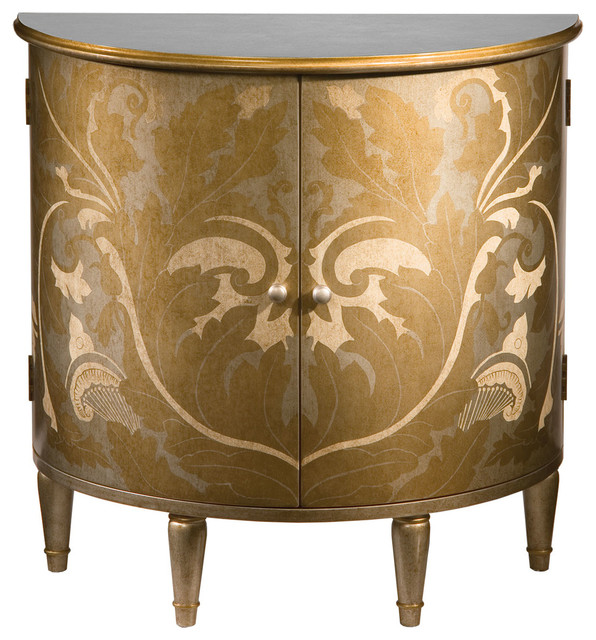 Hand-Painted Half-Round Cabinet - Traditional - Accent Chests And Cabinets - by Inviting Home Inc