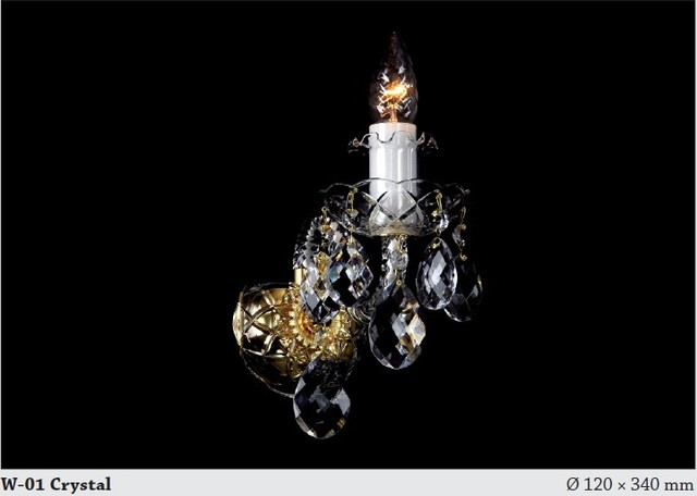 Bohemian Crystal Wall Lights : Bohemian 30% PBO crystal wall sconce - Modern - Chandeliers - adelaide - by Murano Art Glass ...
