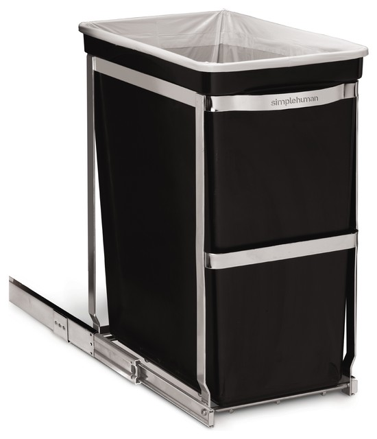 30 Litre Under Counter Pull-Out Can, Commercial Grade - Modern - Trash Cans - by simplehuman