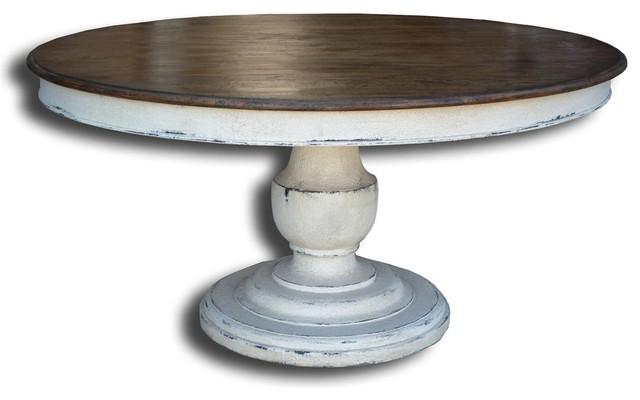 Scottsdale round pedestal base dining table traditional for Traditional dining table bases
