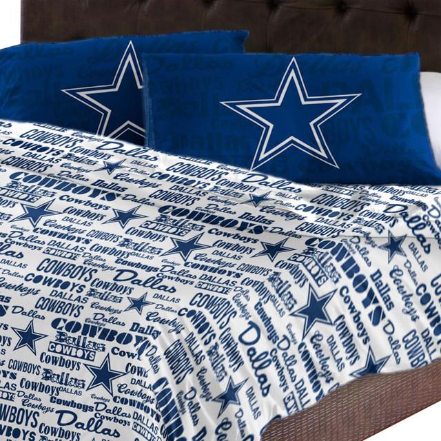 Nfl Dallas Cowboys Sheet Set Football Anthem Sheets Full