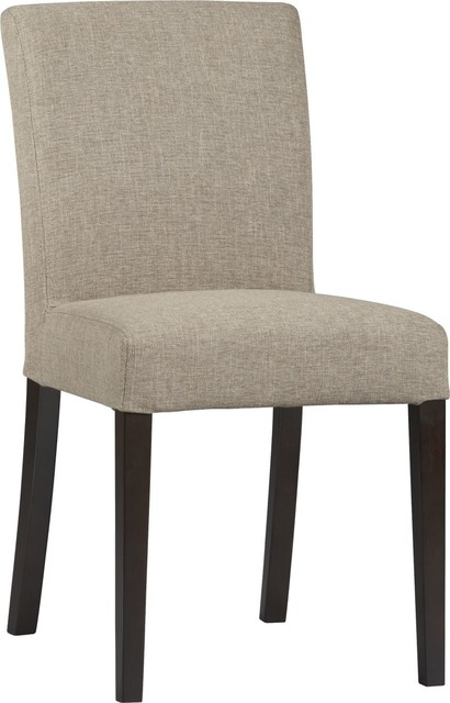 lowe khaki side dining chair crate and barrel