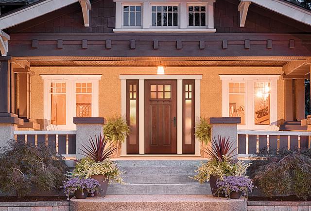 Fiber classic mahogany traditional front doors for Therma tru fiber classic mahogany price