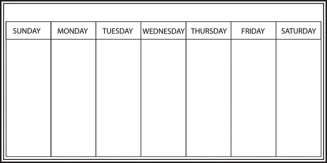 Whiteboard weekly calendar wall decal contemporary for Monday through saturday calendar template