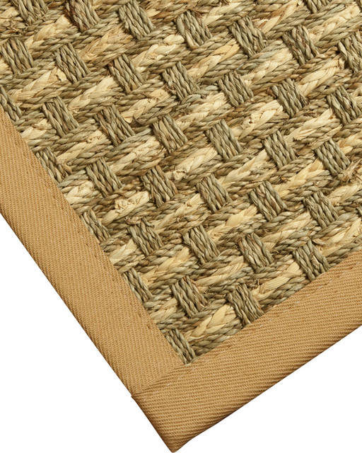 antolia seagrass rug natural cotton border contemporary area rugs by natural area rugs. Black Bedroom Furniture Sets. Home Design Ideas