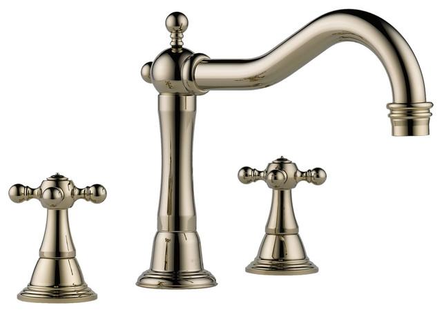 brizo 62536lf pn tresa two handle kitchen faucet modern