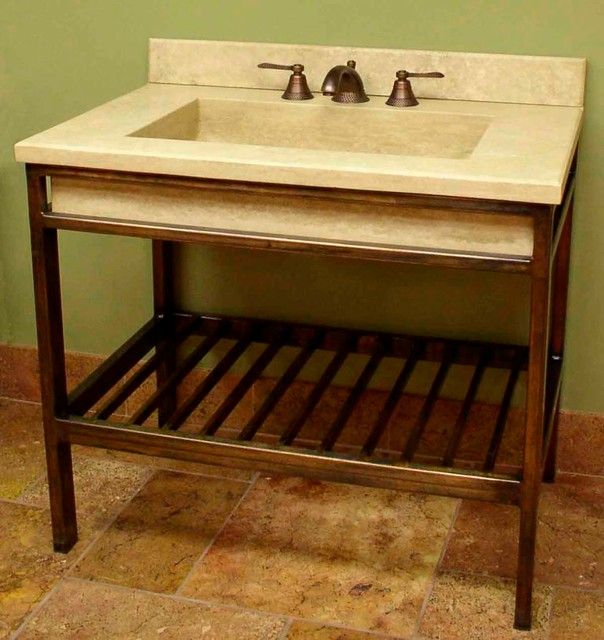Vanities wrought iron and stone - Eclectic - Bathroom Vanities And Sink Consoles - Cleveland ...