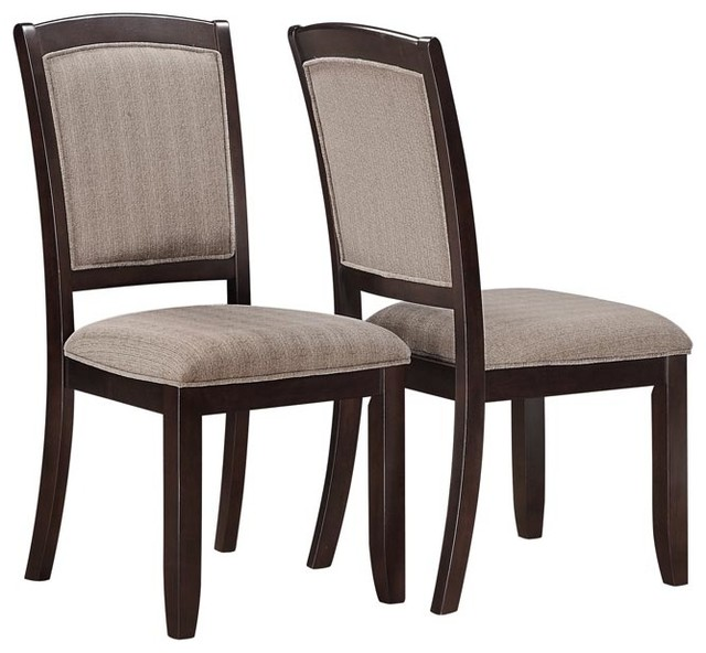 Dining Chairs 38 Inch High In Cappuccino Set Of 2 Free