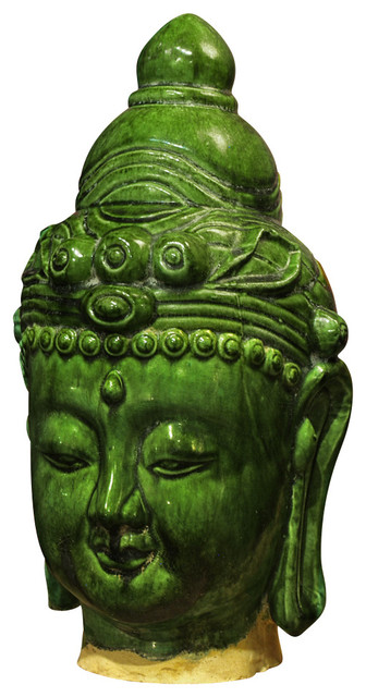 Ceramic Buddha Head (1) - Asian - Decorative Objects And Figurines - by China Furniture and Arts