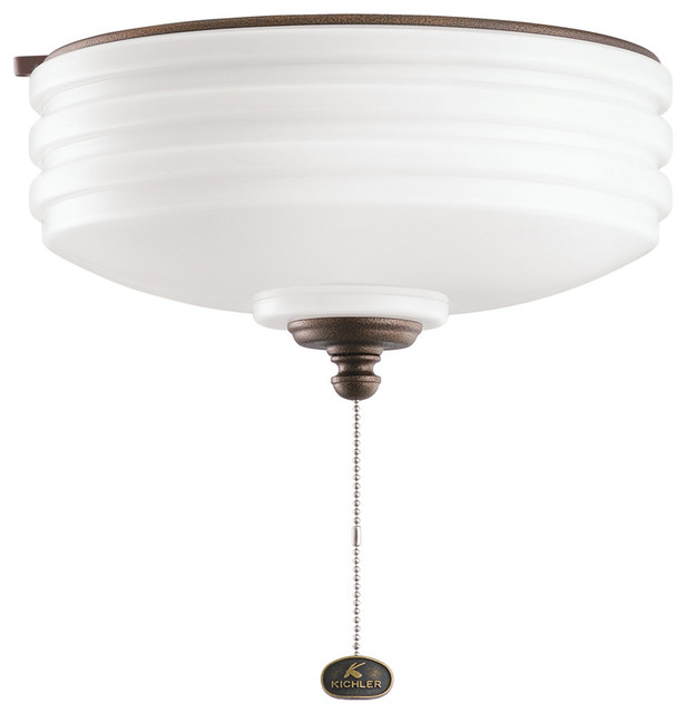 Kichler 380901WCP Outdoor Light Fixture Transitional Flush Mount Ceiling