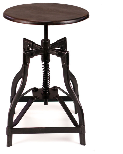 Mcclain Industrial Style Swivel Stool Industrial Bar