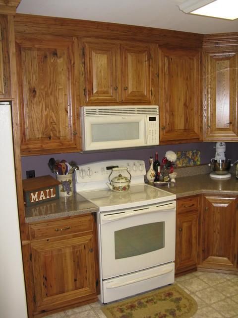 Wormy chestnut kitchen other by hargenrader custom for Chestnut kitchen cabinets