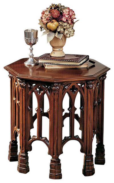 Gothic Revival Octagonal Side Table Traditional Side Tables And End Tables By Design Toscano