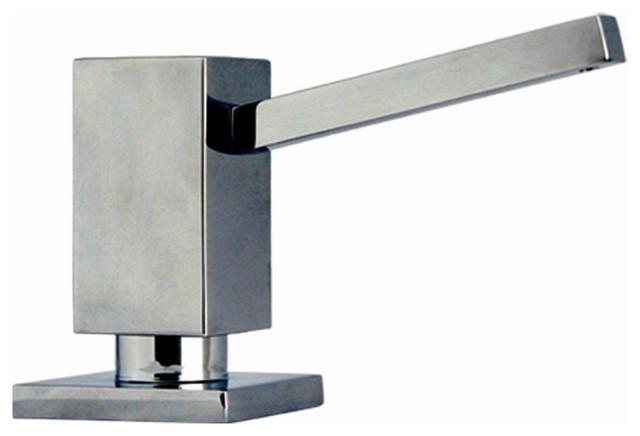 Q Haus Soap Dispenser Brushed Nickel Contemporary Soap