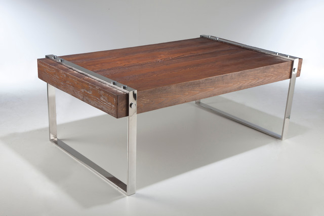 Modern Industrial Coffee Table Modern Coffee Tables Other Metro By Dalia Sadany