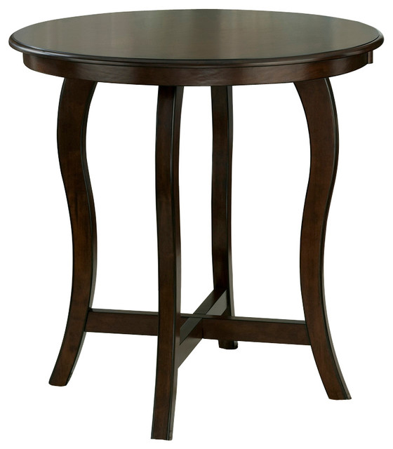 Hillsdale Wilmington Round Counter Height Table In Cappuccino Traditional Indoor Bistro