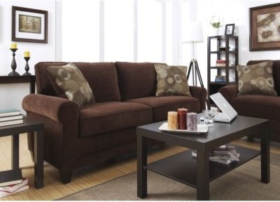 Serta Trinidad Collection Deluxe Sofa Chocolate Modern Sofas By Hayneedle