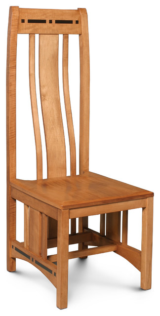 Aspen Side Chair With Inlay Contemporary Dining Chairs Dallas By Woodbine Furniture