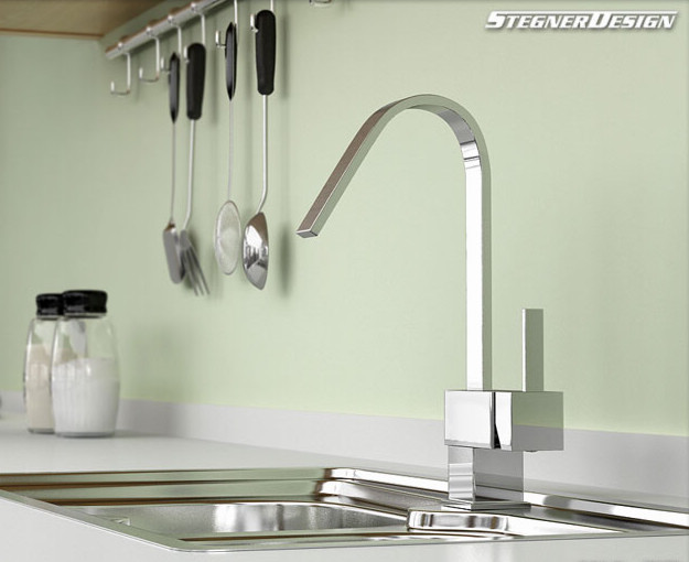 Single Handle Chrome Kitchen Faucet Modern Kitchen Faucets By Sinofaucet