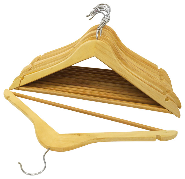 Wood Suit Hangers Set of 48 - Modern - Clothes Hangers - by HoldNStorage