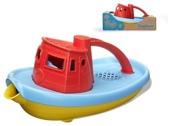 Green toys tugboat red modern pool toys and floats for Pool floats design raises questions