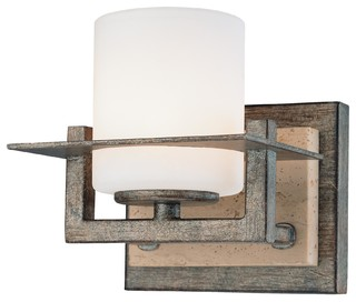 Rustic Bathroom Wall Sconces : Compositions 1-Light Wall Sconce - Rustic - Bathroom Vanity Lighting - by ALCOVE LIGHTING