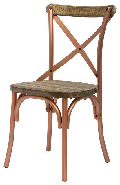 Natalie Metal Chair Copper Industrial Dining Chairs By New Pacific Dir