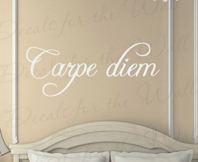 wall quote decal sticker vinyl art lettering mural carpe diem seize the day in21 bauhaus look. Black Bedroom Furniture Sets. Home Design Ideas
