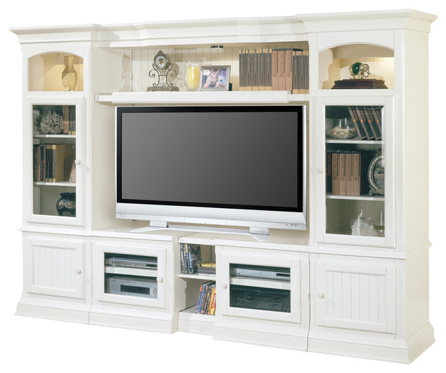 Hartford Entertainment Center, White Finish - Modern - Entertainment Centers And Tv Stands - by ...