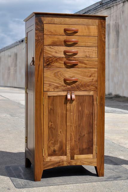 Walnut Jewelry Armoire - Traditional - Jewelry Armoires - atlanta - by Turner Custom Furniture