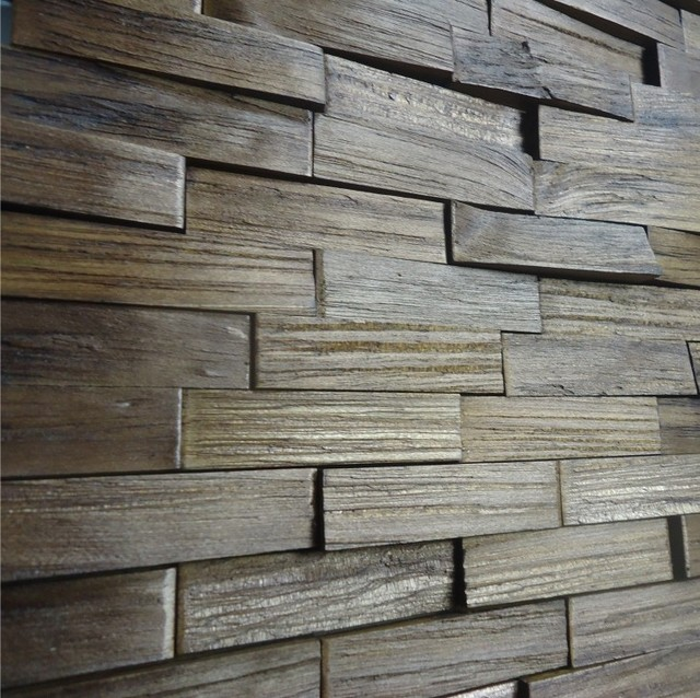 Decorative wood panels box mattoni castanho rustic - Decorative paneling for walls ...