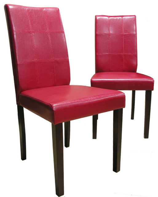 Warehouse of Tiffany Evellen Red Dining Chairs Set of 4  : contemporary dining chairs from houzz.com size 514 x 640 jpeg 54kB