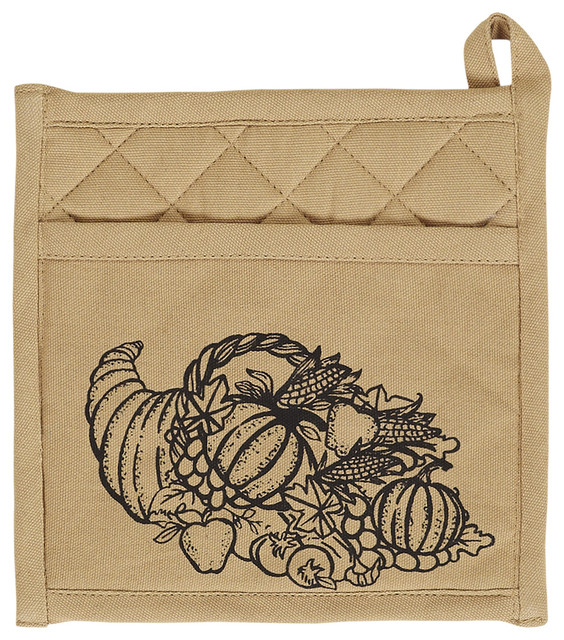 Giving Thanks Pot Holder With Pocket And Cornucopia ...
