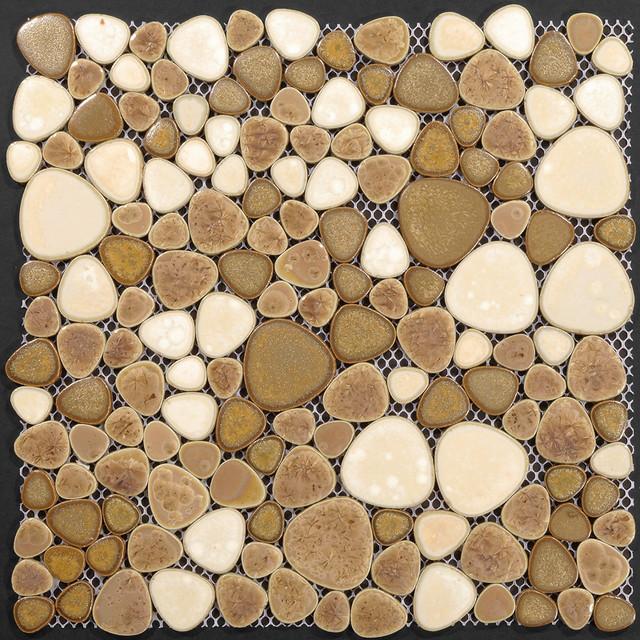 Porcelain Pebble Tile Floor Mosaic Tiles Kitchen