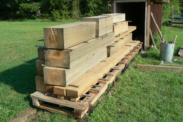 Lumber sinker cypress rustic other metro by virgin for Cypress log home prices