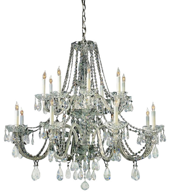 Crystorama traditional crystal 16 light clear swarovski crystal chandelier i traditional - Traditional crystal chandeliers ...
