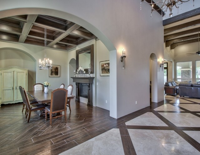 French Country Estate In The Pecans Queen Creek Az Farmhouse Dining Room Phoenix By I