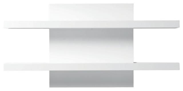 Cargo Wall Shelf, High-Gloss White - Modern - Display And Wall Shelves - by Mobital USA Inc.