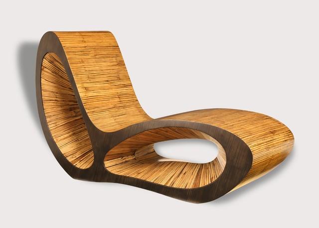 M ridienne bambou d roul exotique chaise longue et for Meubles bambou design