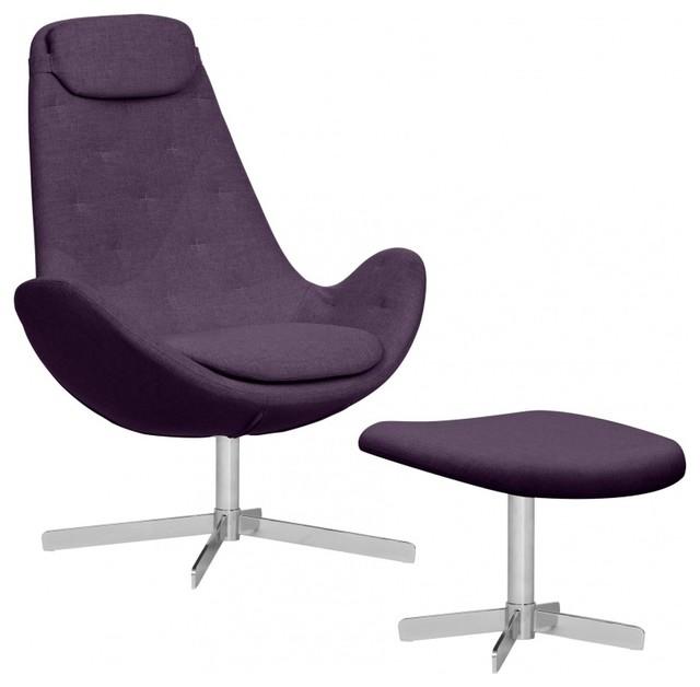loungesessel houston ii violett hoch mit hocker bauhaus. Black Bedroom Furniture Sets. Home Design Ideas
