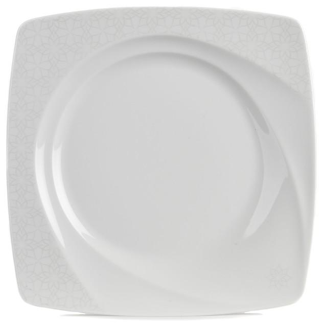 classic assiette plate forme originale d cor ton sur ton contemporain assiette par alin a. Black Bedroom Furniture Sets. Home Design Ideas