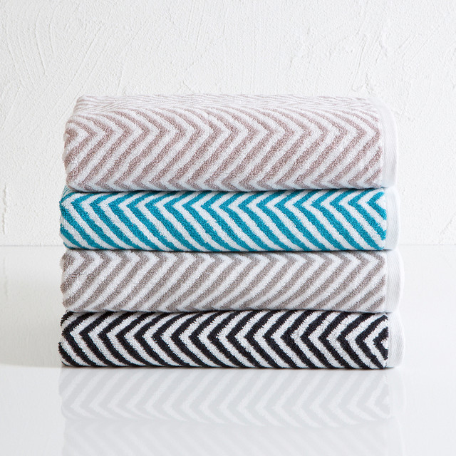 Chevron Towel Range Modern Bath Towels By Pillowtalk Designer Bathroom Towels